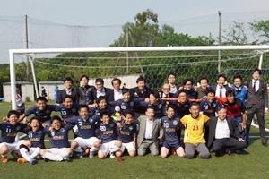 親善スポーツ大会のサッカーにおいて 神戸大学が念願の初優勝を遂げました。