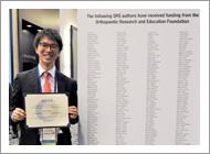 長井寛斗先生が ORS/OREF Travel Award in Orthopaedic Research Translation を受賞しました。